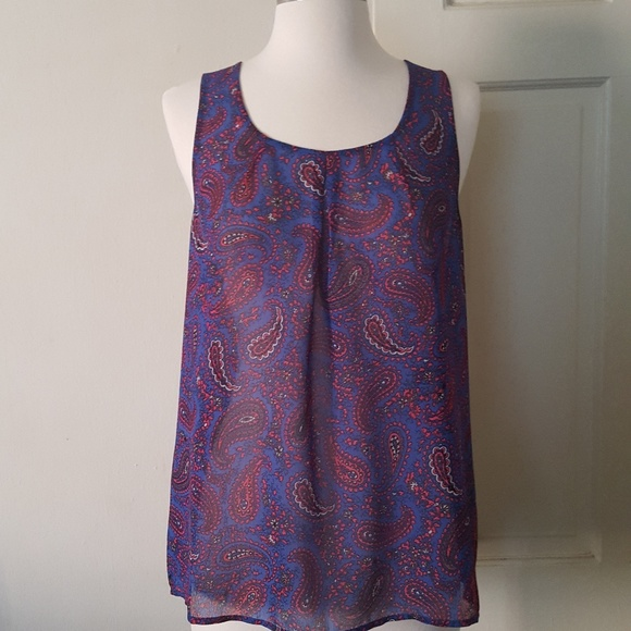 Madewell Tops - Madewell Broadway and Broome Blue Paisley Tank Top